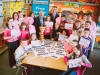 P7 pupils with Stephen Roche